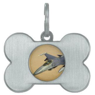 F-16 Fighting Falcon Block 40 aircraft Pet ID Tag