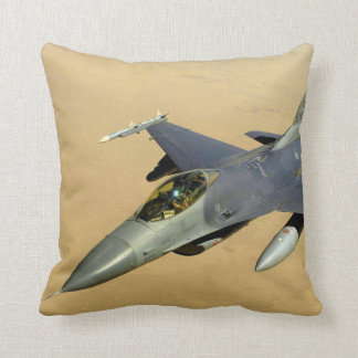 F-16 Fighting Falcon Block 40 aircraft Throw Pillow