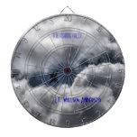 F-16 Fighting Falcon Cloudy Sky Dart Board