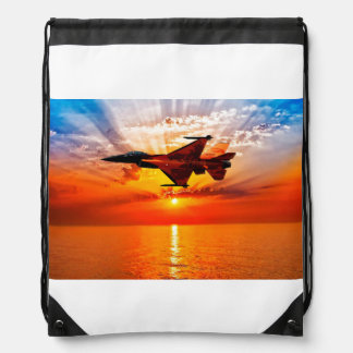 F-16 Fighting Falcon Drawstring Bag