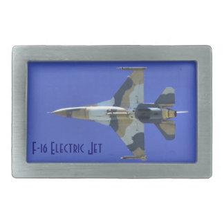 F-16 Fighting Falcon Electric Jet Rectangular Belt Buckle