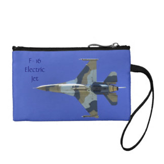 F-16 Fighting Falcon Electric Jet Military Coin Purse
