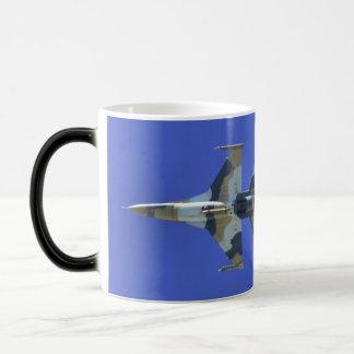 F-16 Fighting Falcon Electric Jet 11 Oz Magic Heat Color-Changing Coffee Mug