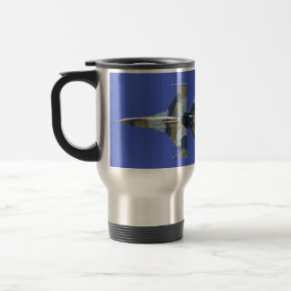 F-16 Fighting Falcon Electric Jet 15 Oz Stainless Steel Travel Mug