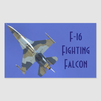 F-16 Fighting Falcon Electric Jet Rectangle Sticker