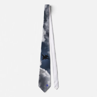 F-16 Fighting Falcon in the Clouds Single Side Neck Tie