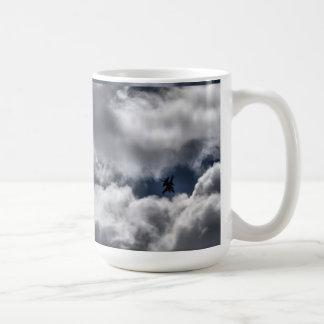 F-16 Fighting Falcon in the Cloudy Sky Classic White Coffee Mug