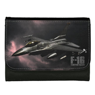 F-16 Fighting Falcon Leather Wallet For Women