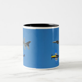 F-16 Fighting Falcon & P-51 Mustang Mug