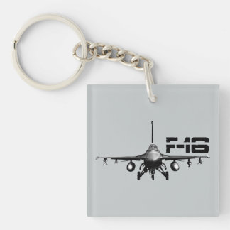 F-16 Fighting Falcon Square (double-sided) Keycha Keychain