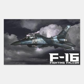 F-16 Fighting Falcon Rectangular Stickers