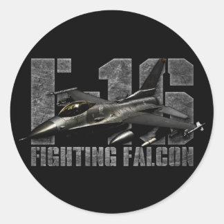 F-16 Fighting Falcon Round Stickers