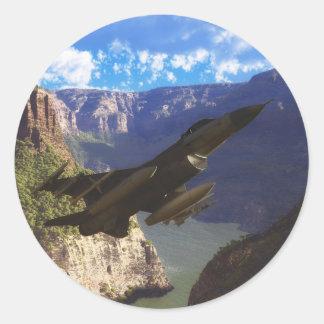 F-16 Fighting Falcon Round Sticker