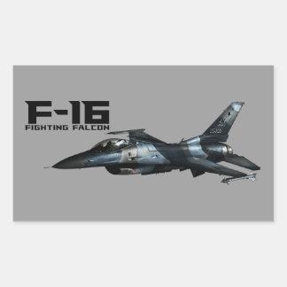 F-16 Fighting Falcon Rectangular Sticker