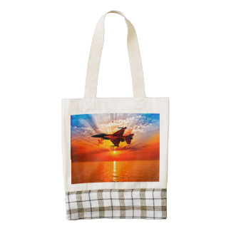 F-16 Fighting Falcon Zazzle HEART Tote Bag