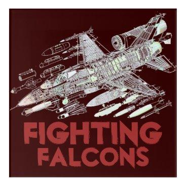USA Themed F-16 Fighting Falcons Acrylic Wall Art