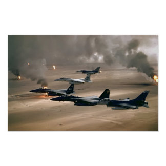 F-16 Fighting Falcons and F-15 Eagles Posters