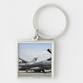 F-16 Fighting Falcons await to launch Keychain