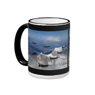 F-16 Fighting Falcons Ringer Coffee Mug