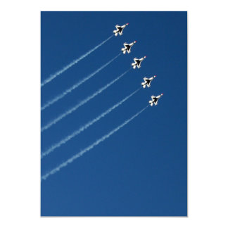 F-16 formación de los Thunderbirds cinco Invitación 12,7 X 17,8 Cm