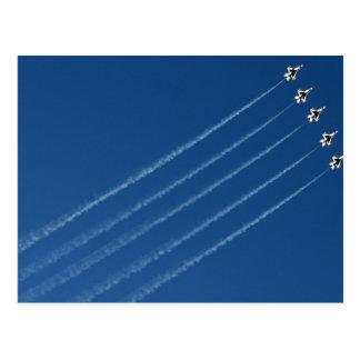 F-16 formación de los Thunderbirds cinco Tarjetas Postales