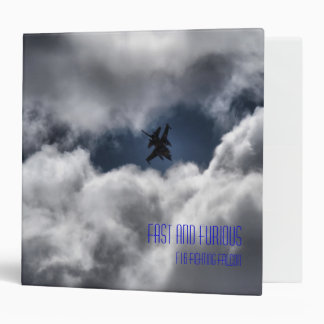 F-16 in the Clouds with Name Binder