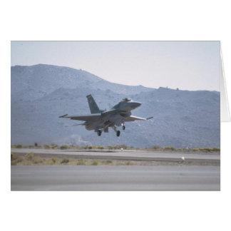 F-16 Landing At Luke Air Force Base Card