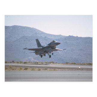 F-16 Landing At Luke Air Force Base Postcard