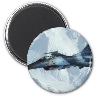 F-16 RED DOG LEADER 2 INCH ROUND MAGNET