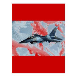 F-16 RED DOG LEADER POSTCARD