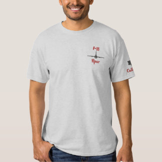 F-16 Tee with Callsign Embroidered