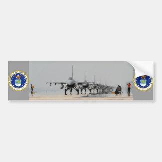 F-16 THUNDER CAR BUMPER STICKER