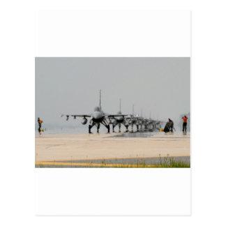 F-16 THUNDER POSTCARD