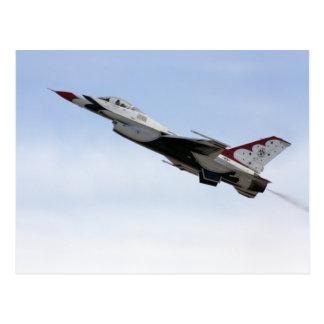 F-16 Thunderbird en vuelo Tarjeta Postal