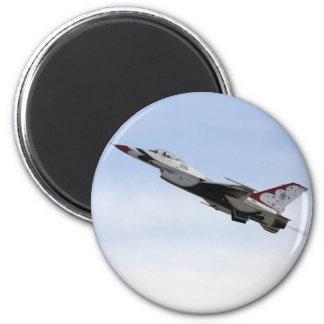 F-16 Thunderbird In Flight 2 Inch Round Magnet