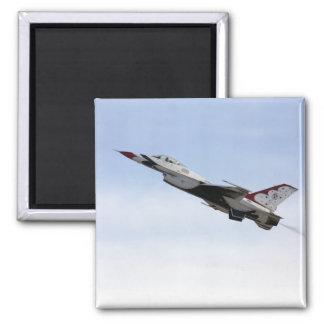 F-16 Thunderbird In Flight 2 Inch Square Magnet