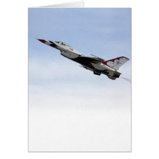 F-16 Thunderbird In Flight Card