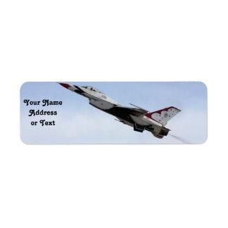 F-16 Thunderbird In Flight Custom Return Address Labels