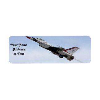 F-16 Thunderbird In Flight Label