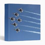 F-16 Thunderbirds Delta Formation 3 Ring Binders