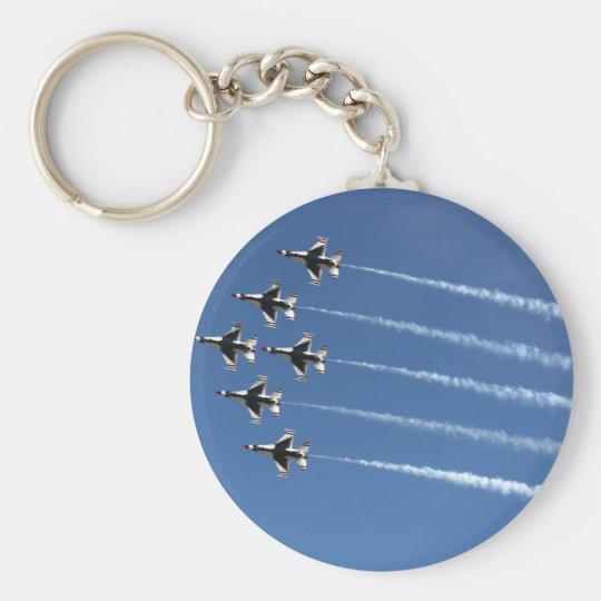 F-16 Thunderbirds Delta Formation Keychain