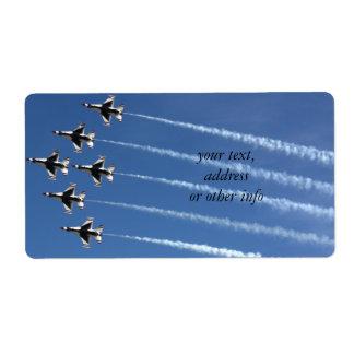 F-16 Thunderbirds Delta Formation Custom Shipping Label