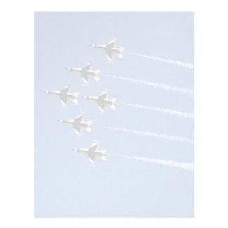 F-16 Thunderbirds Delta Formation Customized Letterhead