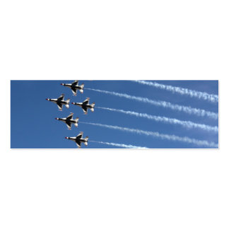 F-16 Thunderbirds Delta Formation Mini Business Card