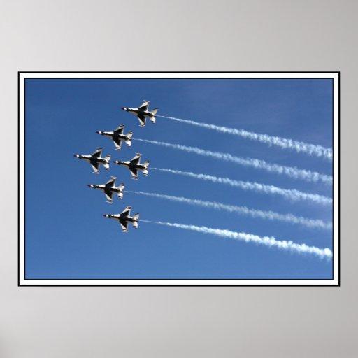 F-16 Thunderbirds Delta Formation Posters