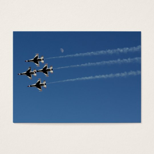 F-16 Thunderbirds Diamond  Formation Business Card