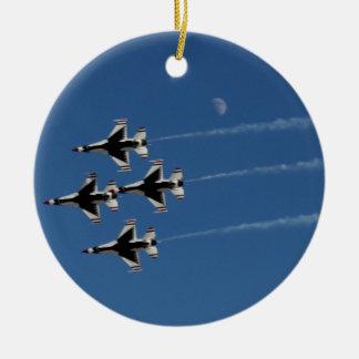 F-16 Thunderbirds Diamond  Formation Ceramic Ornament
