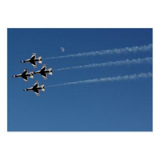 F-16 Thunderbirds Diamond  Formation Large Business Card