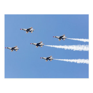F-16 Thunderbirds flying the five-card formation Postcard