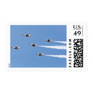 F-16 Thunderbirds flying the five-card formation Stamp